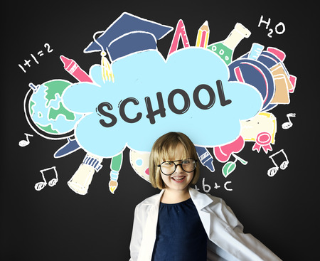 geeky: School Education Academiccs Study Concept Stock Photo