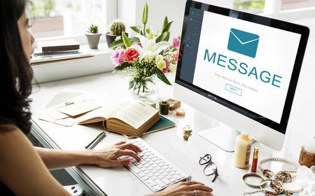 non verbal communication: Message Contact Envelope Online Technology Concept