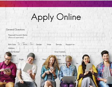 Apply Online Application College Form Concept Stock Photo