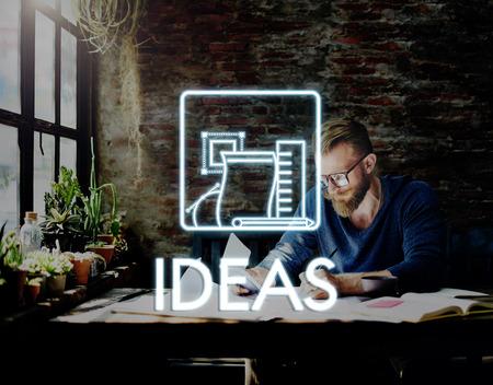 new idea: Aspirations Be Creative Thinking Draft Ideas Concept
