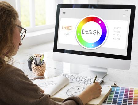 color swatch: Color Swatch CMYK Design Spectrum Sample Concept