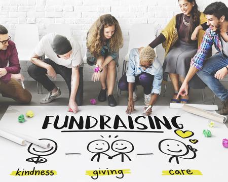 Las donaciones de caridad de recaudación de fondos sin fines de lucro Concepto de Voluntarios Foto de archivo - 64277349