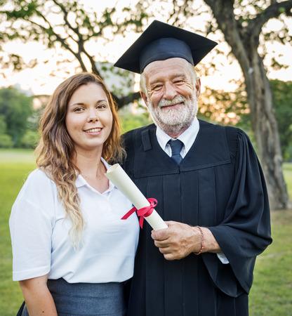Graduation Celebration Success Certificate College Concept Reklamní fotografie