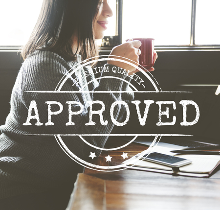 certified stamp: Authorized Approved Certified Stamp Concept