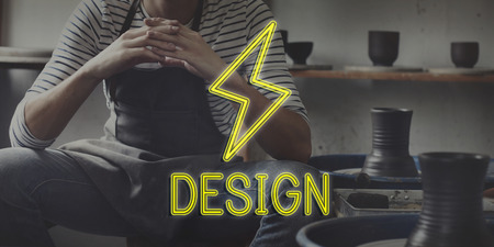 skill: Handcraft Sculptor Skill Pottery Concept Stock Photo