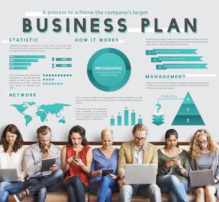 friend chart: Business Managment Marketing Global Plan Concept