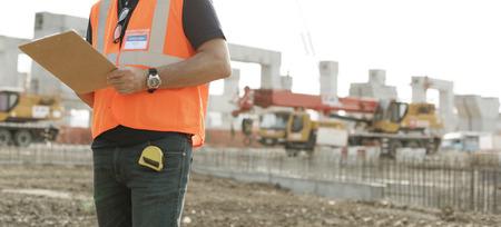 Architektur, Baugewerbe, Safety First Careerconcept Standard-Bild
