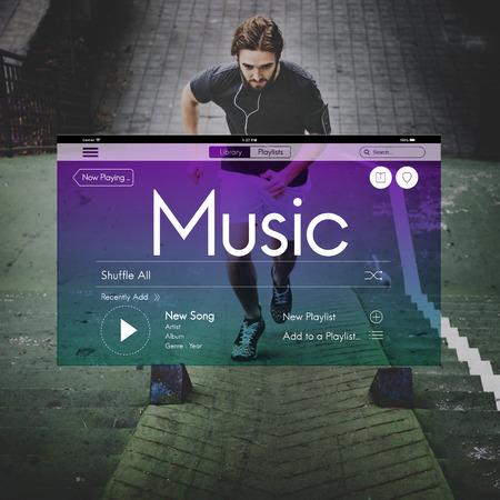 instrumental: Music Streaming Instrumental Playlist Podcast Concept