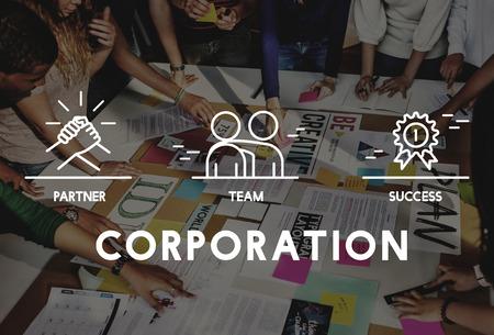 teamwork: Business Collaboration Teamwork Corporation Concept Stock Photo