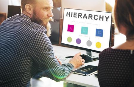 jerarquia: Hierarchy Leader Team Diagram Concept Foto de archivo