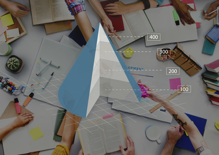 Cone Graph Chart Business Analytics Concept Imagens - 64366046