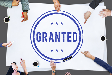 granted: Access Granted Approval Sign Concept Stock Photo