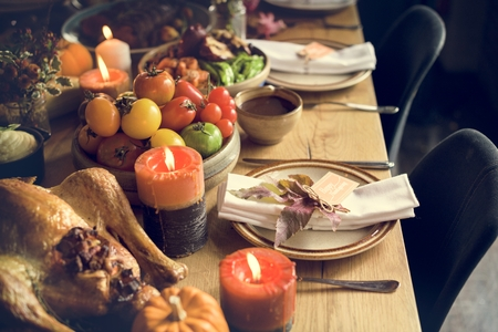 Maple Leaf Thanksgiving Table Setting Concept