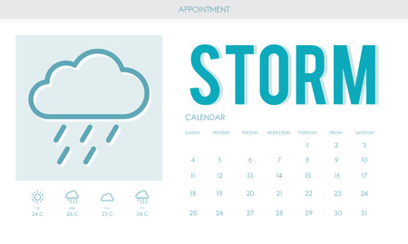 estimation: Storm Forecast Weather Rainy Cloud Concept Stock Photo