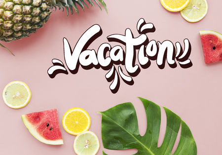 arial view: Beach Vocation Enjoy Holidays Summer Concept Stock Photo