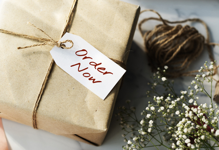 shopping tag: Shopping Tag Handwriting Words Note Concept Stock Photo