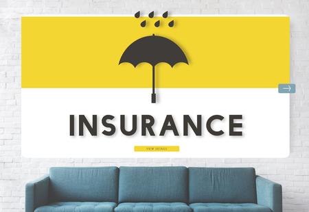 Umbrella with insurance concept