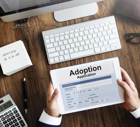 guardianship: Adoption Application Family Guardianship Support Concept Stock Photo