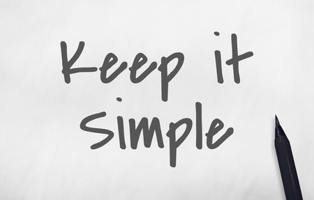 keep: Keep It Simple Smiling Concept