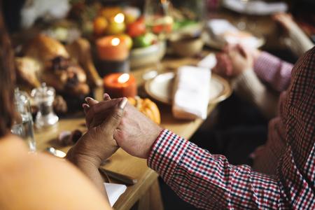 Díkůvzdání Oslava tradice Family Dinner Concept Reklamní fotografie