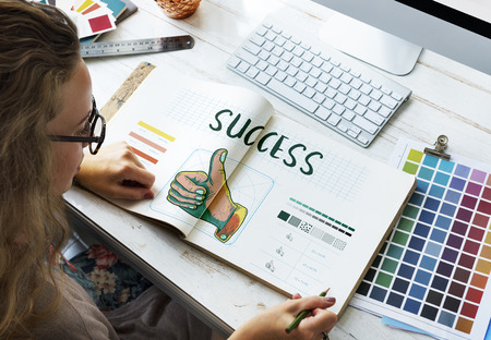 creative potential: Branding Design Practice Success Creative Concept Stock Photo