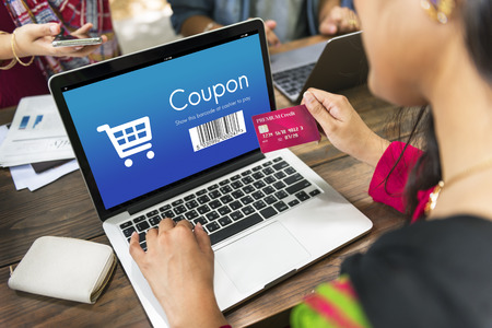 purchase: Coupon Purchase Order Discount Concept