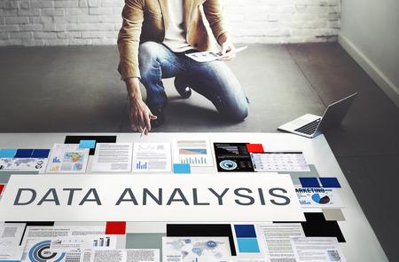 Datenanalyse Computer-Digital-Technologie-Konzept