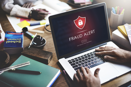 notify: Fraud Alert Caution Defend Guard Notify Protect Concept