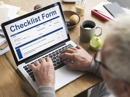 personel: Checklist Form Application Questionnaire Concept Stock Photo