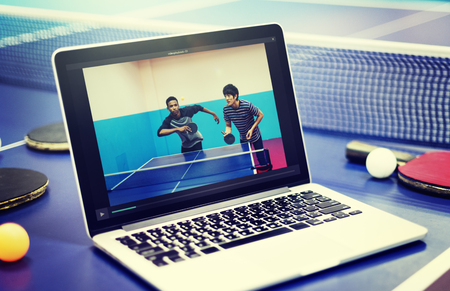 amateur: Table Tennis Ping Pong Replay Athlete Amateur Concept