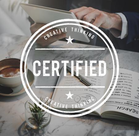 verify: Certified Guarantee Warranty Verify Stamp Word Concept