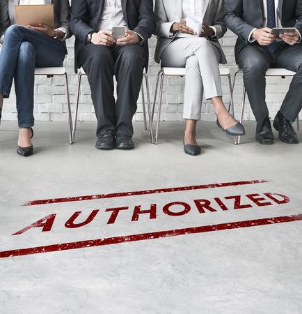 approve: Authorize Allowance Approve Permit Graphic Concept