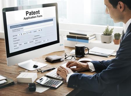 特許保護知的財産かみ合い 写真素材