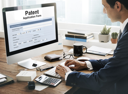 Patent Protection Intellectual Property Conept 版權商用圖片