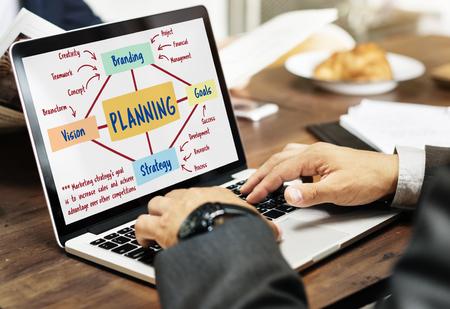 Planning Marketing Branding Strategy Concept Stock Photo