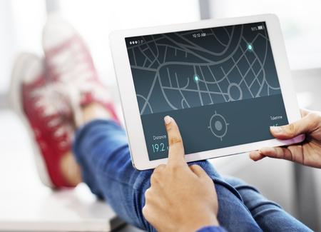 distance: Navigation Distance Map Application Concept