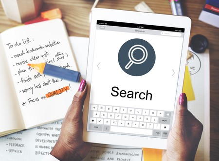 browse: Find Search Browse Magnifying Glass Concept