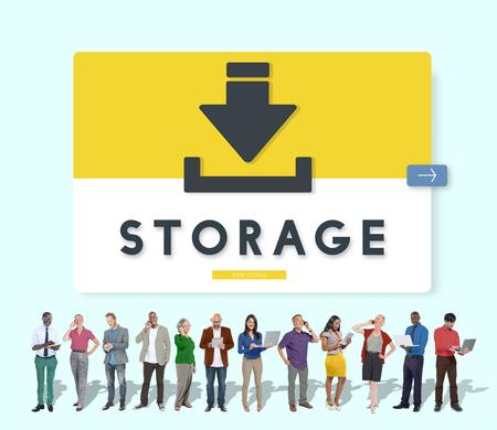 sync: Data Backup Storage SYNC Digital Server Internet Concept