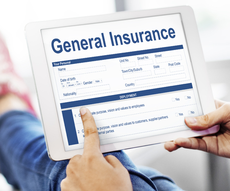 questionaire: General Insurance Information Document Concept Stock Photo