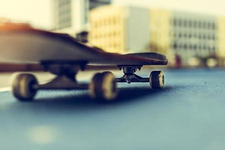 freestyle: Skateboarding Practice Freestyle Extreme Sports Concept Stock Photo