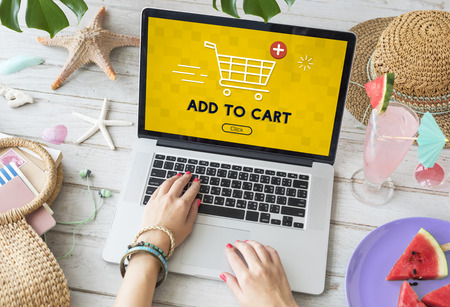 add to cart: Add Cart Buy Now Online Commerce Graphic Concept
