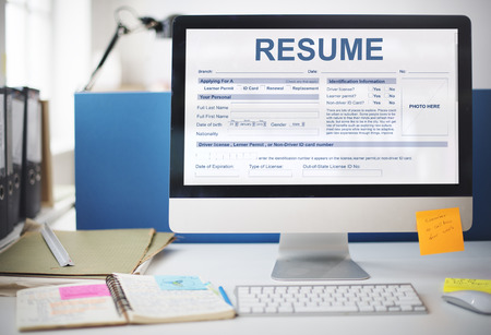 qualifications: Resume Application Employment Form Concept
