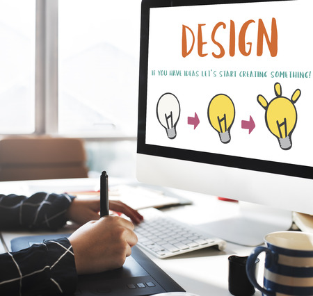 invention: Design Be Creative Inspiration Invention Concept Stock Photo