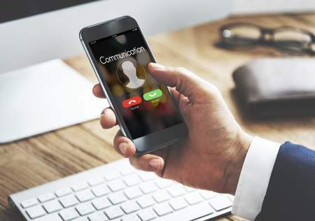 Communication Incoming Call Connect Concept Stock Photo