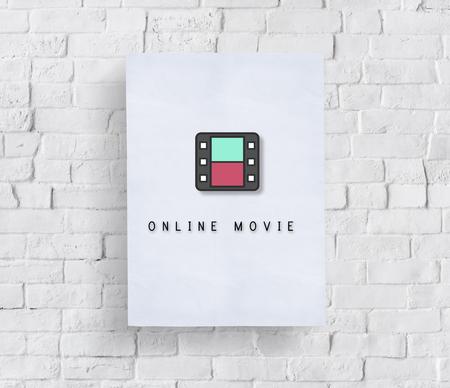 movie film reel: Movie Film Reel Cinema Media Graphic Concept