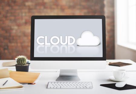 wireless tool: Cloud Network Data Digital Storage Technology Concept