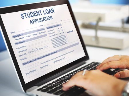 Student Loan Application Form Concept Stock Photo, Picture And