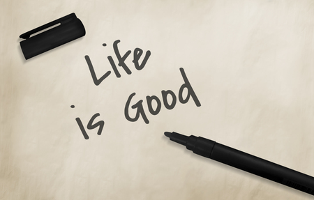 goes: Life Goes Good Postive Concept Stock Photo