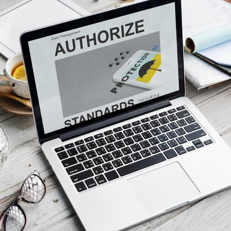 Laptop with data management concept