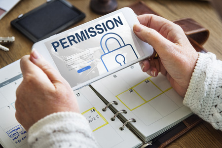 log in: Permission Log In User Password Register Concept Stock Photo